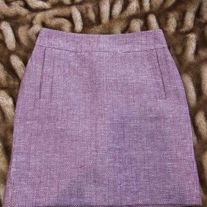 Banana Republic Pink Tweed Pencil Skirt Size 0